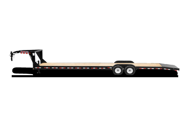Gooseneck Car Hauler designed to haul 2 vehicles