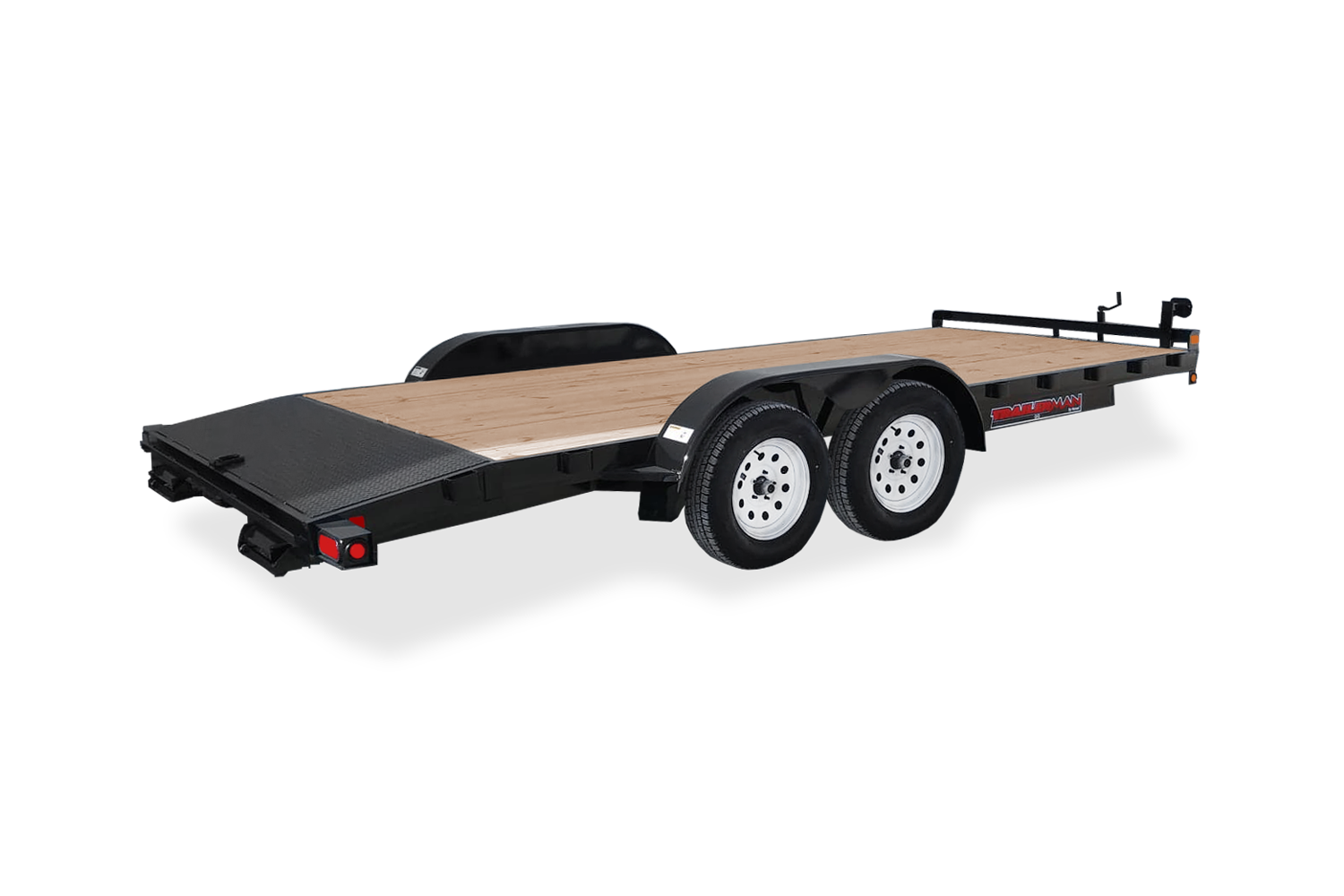 Trailerman Car Hauler Rear Angle View