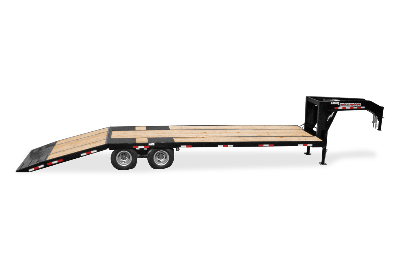 Trailerman Hydraulic Dove Deckover Loading